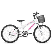 Bicicleta Aro 20 Feminina Next Branca com Cesta Mormaii -
