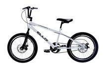 Bicicleta Aro 20 Nitro Freio a Disco Tipo Bmx Cross Free Style Branco - Ello Bike -