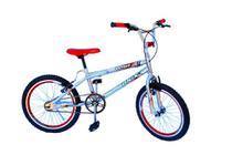Bicicleta aro 20 onix cross cromada com aero e selim na cor vermelho -
