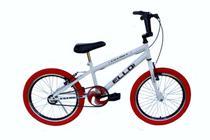 Bicicleta Aro 20 Tipo Cross Free Style Bmx Branco/Vermelho - Ello Bike -