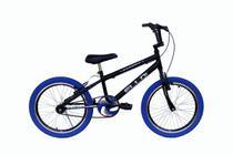 Bicicleta Aro 20 Tipo Cross Free Style Bmx Preto/Azul - Ello Bike -