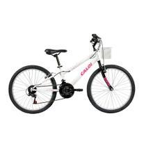 Bicicleta Aro 24 - 21 Marchas Ceci Branca - Caloi -