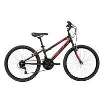Bicicleta Aro 24 Caloi Max 21 Marchas Freios V-Brake Preta -