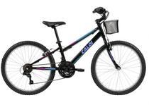 Bicicleta aro 24 caloi sweet com 21 marchas shimano v-brake -