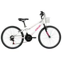 Bicicleta ARO 24 - Ceci - Branco Personalizado - Caloi -
