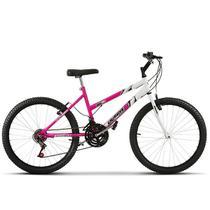 Bicicleta Aro 24 Feminina Bicolor Aço Carbono Ultra Bikes -