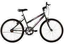 Bicicleta Aro 24 Feminina Dalia Sem Marchas Grafite - Dalannio Bike
