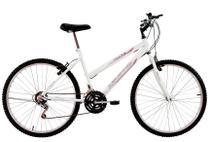 Bicicleta Aro 24 Feminina Life 18 Marchas Branca - Dalannio Bike