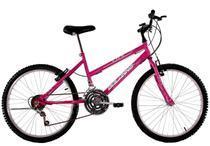 Bicicleta Aro 24 Feminina Life 18 Marchas Rosa Pink - Dalannio Bike
