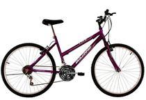 Bicicleta Aro 24 Feminina Life 18 Marchas Roxa Violeta - Dalannio Bike