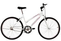 Bicicleta Aro 24 Feminina Life Sem Marchas Branca - Dalannio Bike