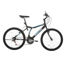 Bicicleta Aro 24 Houston Atlantis Land 21 Marchas Preto Fosco -