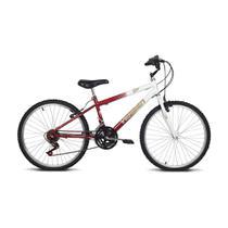Bicicleta aro 24 live branca e vermelho verden bikes -