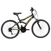 Bicicleta ARO 24 - Max Front - Preta e Amarela - Caloi -