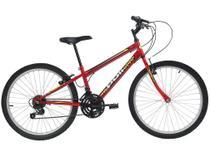 Bicicleta Aro 24 Mountain Bike Polimet 7123 - Freio V-Brake 18 Marchas