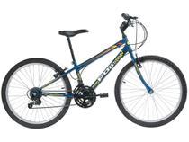 Bicicleta Aro 24 Mountain Bike Polimet 7124 - Freio V-Brake 18 Marchas