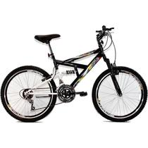 Bicicleta Aro 24 MTB 18V Full Suspension Max 240 Preta - Dalannio Bike