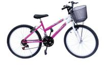 Bicicleta aro 24 onix fem 18m convencional pink -