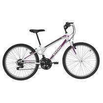 Bicicleta Aro 24 Polimet MTB Podium 18 Marchas V-Brake Branca -