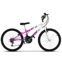 Bicicleta Aro 24 Rebaixada Bicolor Aço Carbono Ultra Bikes -