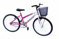 Bicicleta aro 24 wendy fem sem marcha convencional pink -