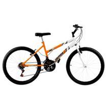 Bicicleta Aro 26 18 Marchas Bicolor Laranja E Branca Pro Tork Ultra - Ultra Bikes