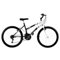 Bicicleta Aro 26 18 Marchas Bicolor Preta E Branca Pro Tork Ultra - Ultra Bikes