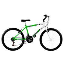 Bicicleta Aro 26 18 Marchas Bicolor Verde E Branca Pro Tork Ultra - Ultra Bikes