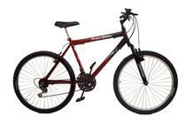 Bicicleta aro 26 18 marchas new bike Esportiva com suspensão Preto/vermelho -