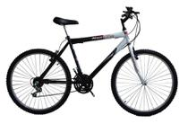 Bicicleta aro 26 18 marchas new bike Esportiva Preto/Branco -