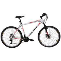 Bicicleta Aro 26 Alumínio Duplo Freio a Disco 21 Marchas Branca - Dalannio Bike