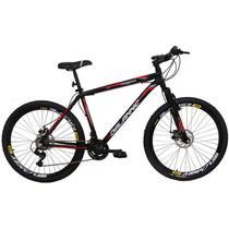 Bicicleta Aro 26 Alumínio Duplo Freio a Disco 21 Marchas Preta - Dalannio Bike