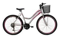 Bicicleta aro 26 athor musa 18v feminina c/cesta -