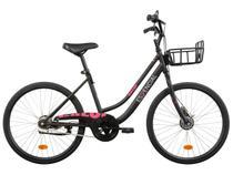 Bicicleta Aro 26 Caloi Essencial T18R26V1 - Preta com Cesta 1 Marcha