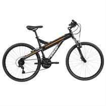 Bicicleta Aro 26 Caloi T-Type 21 Marchas Preto Fosco Com Suspensão -