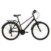 Bicicleta Aro 26 Caloi Urbam 21 Marchas Preta Com Paralamas -