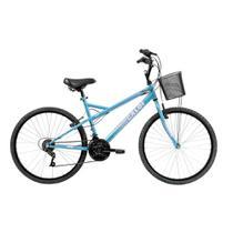 Bicicleta Aro 26 Caloi Ventura com 21 Marchas e Cesto Dianteiro -