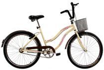 Bicicleta Aro 26 Feminina Beach Retrô Vintage Bege - Dal'Annio Bike
