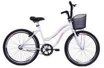 Bicicleta Aro 26 Feminina Beach Sem Marcha Branca - Dal'Annio Bike