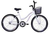 Bicicleta Aro 26 Feminina Beach Sem Marcha Branca - Dalannio Bike