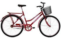 Bicicleta Aro 26 Feminina Classic V-Break com Cesta e Paralama - Dalannio Bike - Dal'Annio Bike