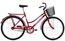 Bicicleta Aro 26 Feminina Dalannio Bike Classic Freio no Pé Vermelha - Dal'Annio Bike
