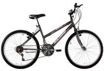 Bicicleta Aro 26 Feminina Dalia 18 Marchas Grafite - Dalannio Bike - Dal'Annio Bike