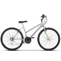Bicicleta Aro 26 Feminina Freio V Break Chrome Line Aço Carbono Ultra Bikes -