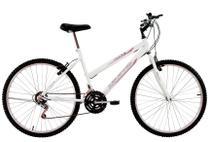 Bicicleta Aro 26 Feminina Life 18 Marchas Branca - Dalannio Bike - Dal'Annio Bike