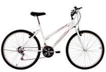 Bicicleta Aro 26 Feminina Life 18 Marchas Branca - Dalannio Bike -