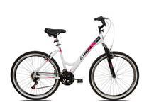 Bicicleta aro 26 feminina one 18v aluminio suspensao-branca - Athor