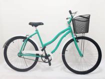 Bicicleta Aro 26 Feminina Retrô Beach Com Cesta -