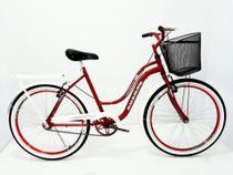 Bicicleta Aro 26 Feminina Retrô Galileus Com Rodas Aero -