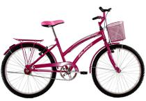 Bicicleta Aro 26 Feminina Susi Rosa Pink com Para-lama e Cesta - Dalannio Bike - Dal'Annio Bike